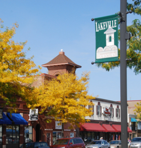 Downtown Lakeville Sign