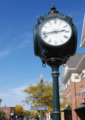 Clock in downtown Lakeville, Minnesota